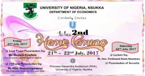 Dept. of Economics Homecoming