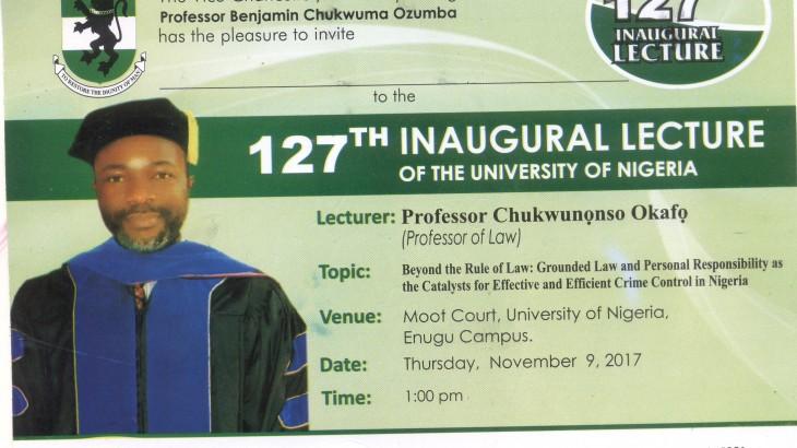 127th Inaugural Lecture 001