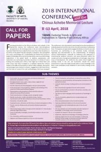 2018 Conference_FacultyOfArtsUNN