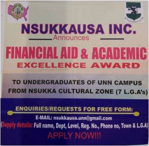 NSUKKA_USAINC Financial AID And Academic Excellence Award- 2018