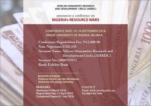 NIGERIA'S RESOURCE WARS Y