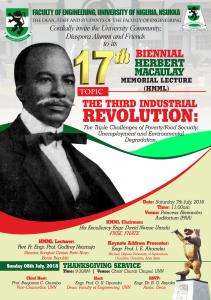 INVITATION CARD HERBERT MACAULAY Memorial Lecture