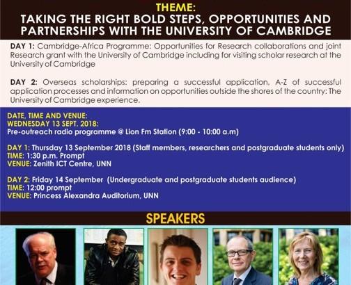 Cambridge-UNN Outreach programme 2018