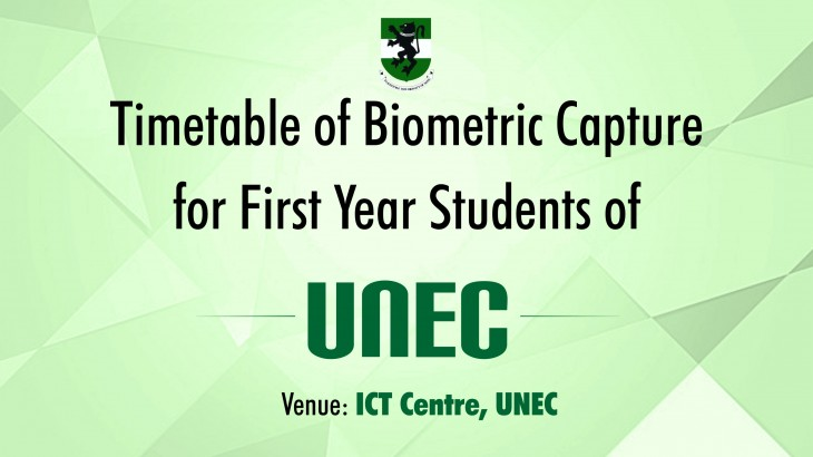 Timetable of Biometric Capture unec