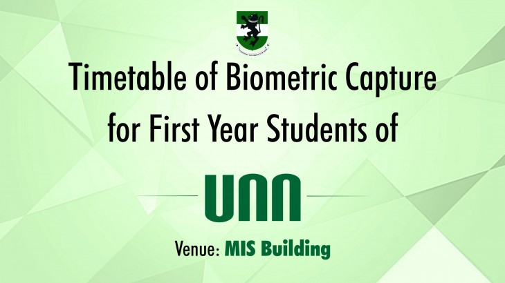 Timetable of Biometric Capture unn