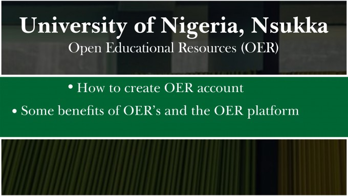 How to Create an OER Account