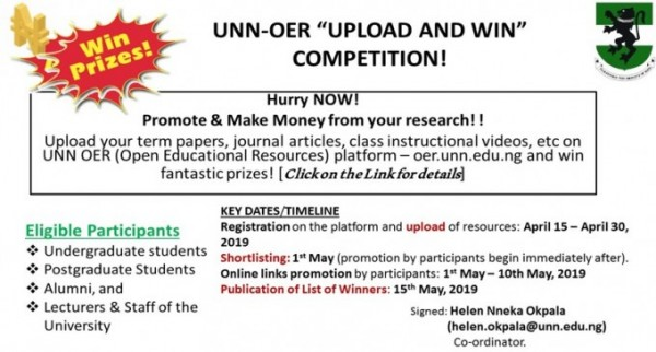"UNN-OER ""UPLOAD AND WIN"" COMPETITION"