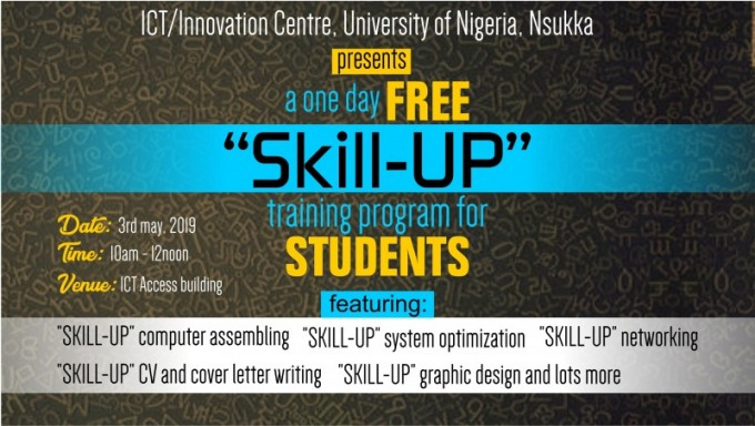"ICT/Innovation Centre Presents ""SKILL-UP"" , a One Day Free Training Program For Students"