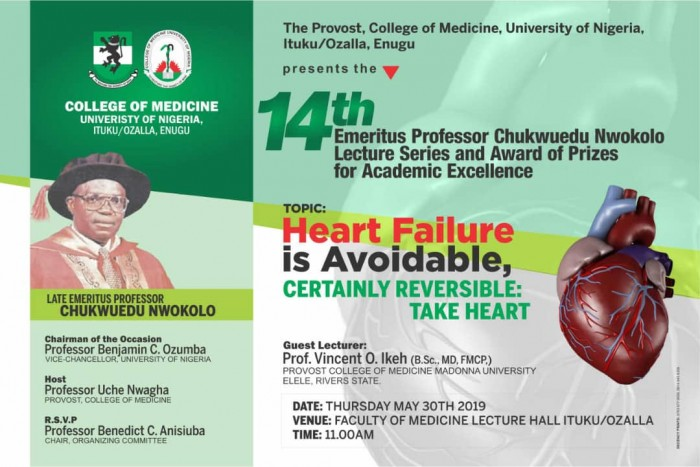 Flyer of the Postponed 14th Emeritus Prof. Chukwuedu Nwokolo Lecture Series for Upload