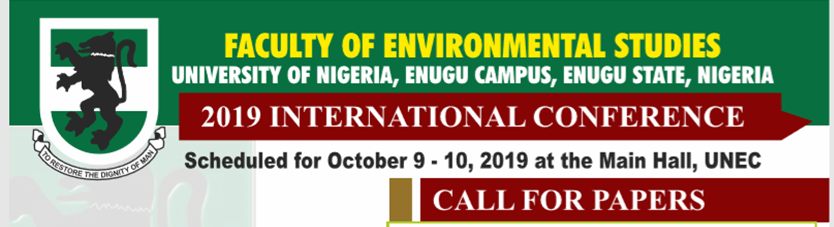 Faculty of Environmental Studies: 2019 International Conference
