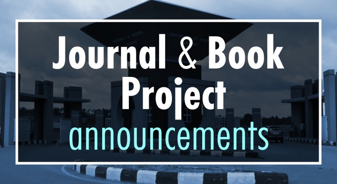 Journal & Book  Project announcements