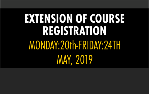 Extension of Course Registration