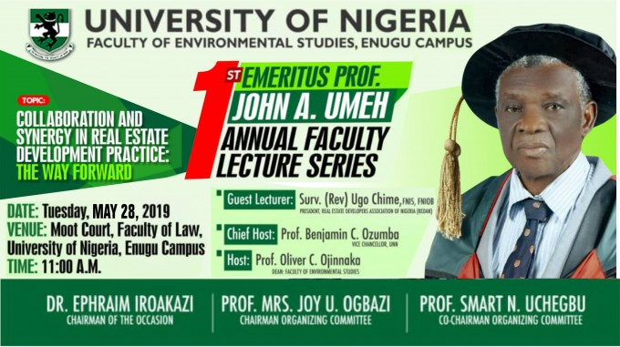 Faculty of Environmental Studies Enugu Campus Annual Faculty Lecture Series