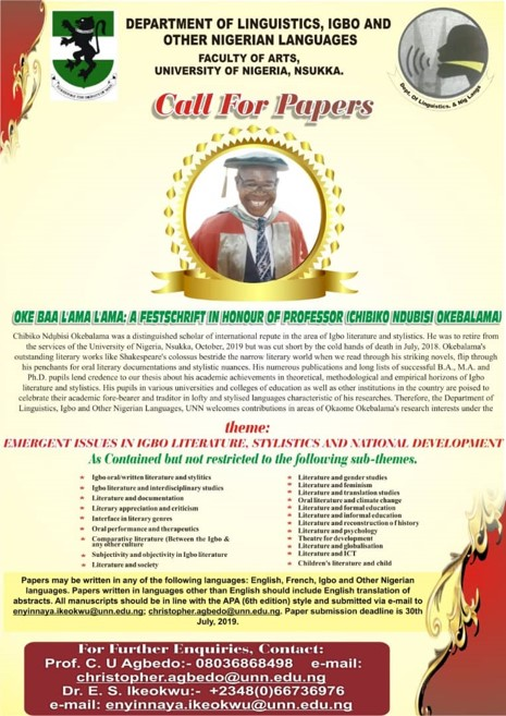 Department Of Linguistics, Igbo And Other Nigerian Languages