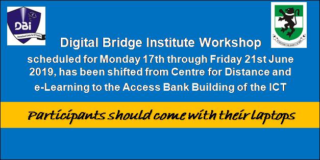 Digital Bridge Institute Workshop
