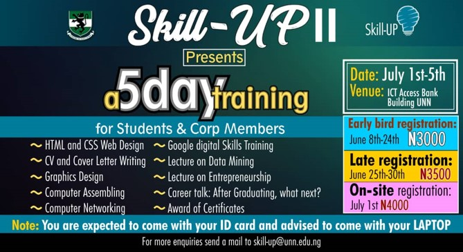 Skill-UP II Presents a 5 day Training For Students And Corp Members