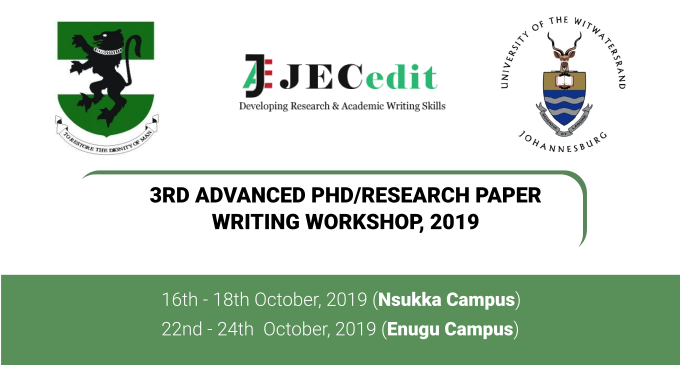 3rd Advanced Ph.D./Research Paper Writing Workshop, 2019