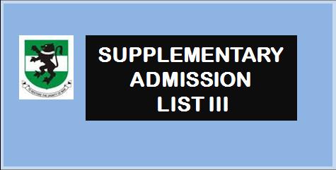 2020/2021 SUPPLEMENTARY ADMISSION LIST III