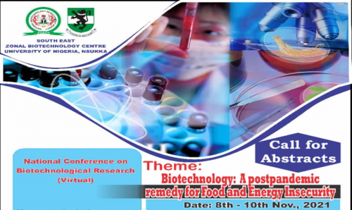 CALL FOR ABSTRACT: SOUTH EAST ZONAL BIOTECHNOLOGY CENTRE, UNIVERSITY OF NIGERIA, NSUKKA