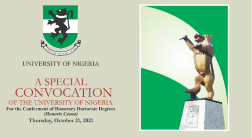 SPECIAL CONVOCATION OF THE UNIVERSITY OF NIGERIA. HAPPENING LIVE!!!