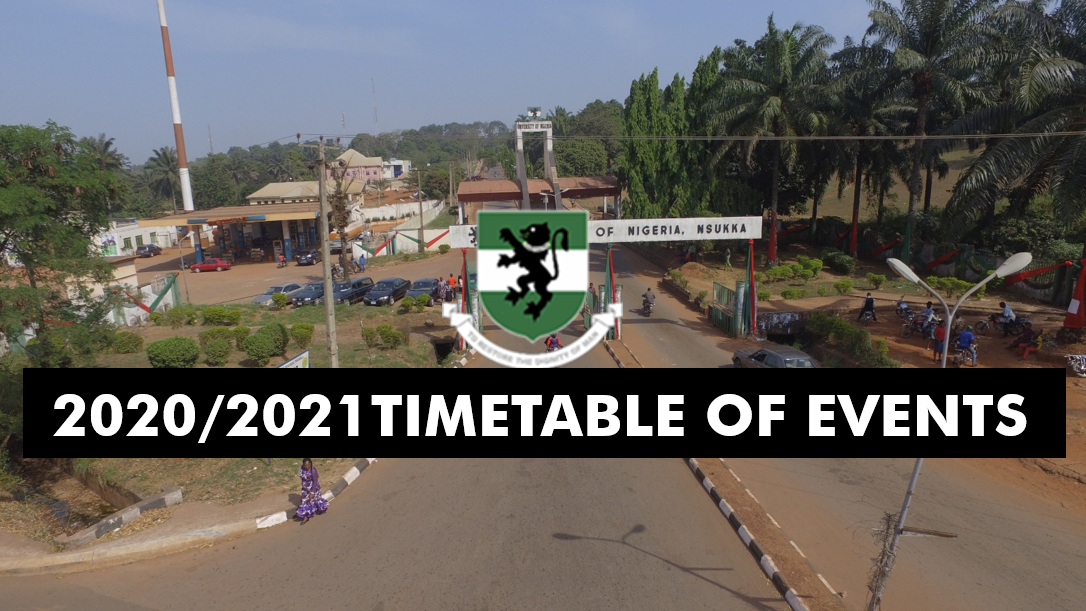BREAKING NEWS: TIMETABLE OF EVENTS FOR 2020/2021 SESSION